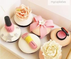 cupcake, bow, and cake image