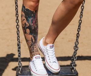 converse, tattoo, and white image