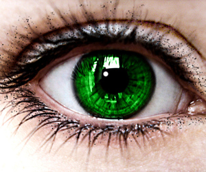 cry, eyes, and green image