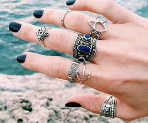 accessories, black, and mani image