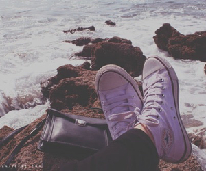 beach and converse image