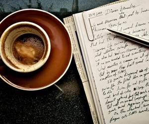 coffee, book, and writing image