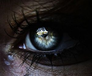 eye, photography, and tears image