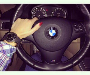 bmw and red nails image