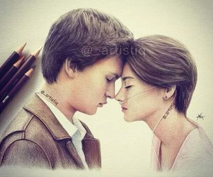 drawing, the fault in our stars, and tfios image