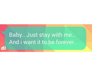 forever, love, and text image