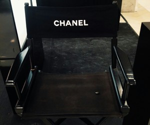 chanel, black, and chair image