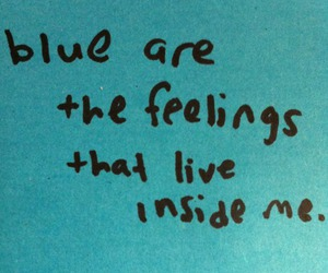 blue, feelings, and quote image