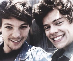 louis, louis tomlinson, and Harry Styles image