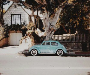 car, blue, and home image