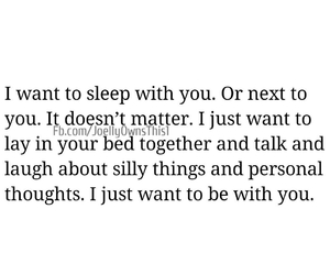 bed, talk, and be with you image