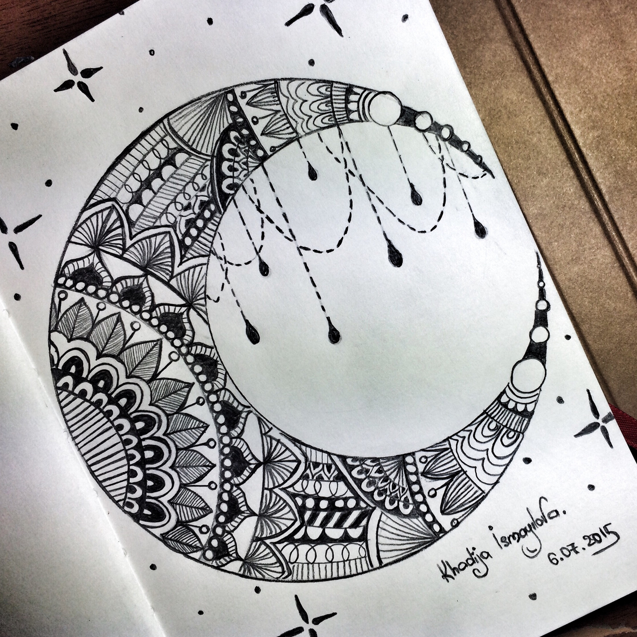 pretty moon drawing - HD 1280×1280