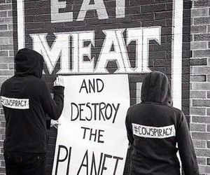vegan, animal rights, and meat image