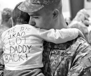 children, daddy, and soldier image