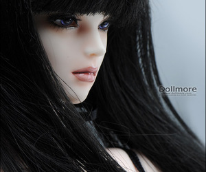 ball jointed doll, bjd, and black hair image