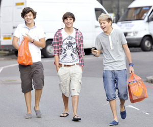 niall horan, louis tomlinson, and Harry Styles image