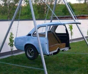 car, swing, and cool image