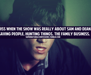 dean winchester, sam winchester, and family business image