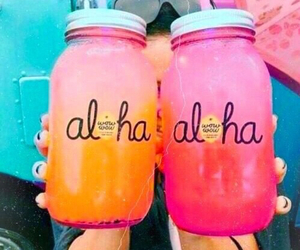 Aloha, drink, and summer image