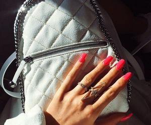 nails, bag, and pink image