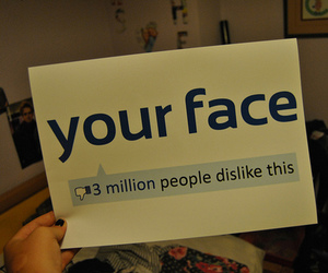 facebook, dislike, and face image