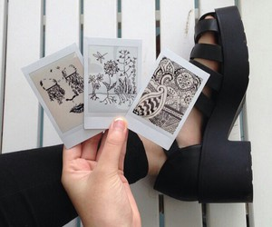 art, doodle, and shoes image