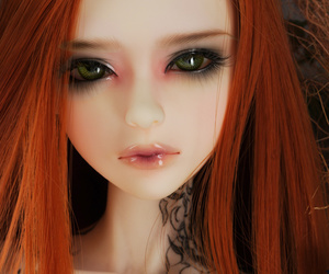 ball jointed doll, bjd, and doll clothes image