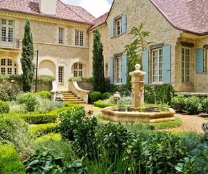 fountain, home, and luxury image