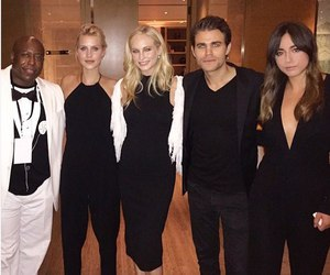 paul wesley, candice accola, and chloe bennet image