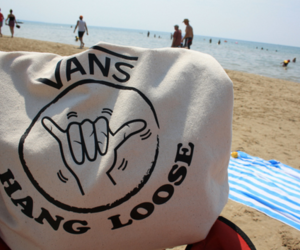 vans, beach, and hang loose image