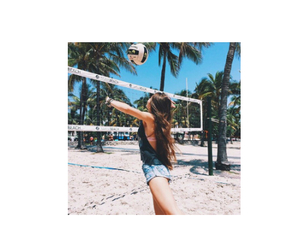 girl and volleyball image