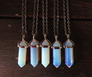 crystal, blue, and necklace image