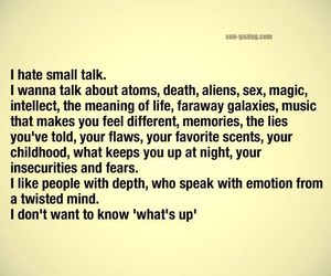 quotes, small talk, and talk image