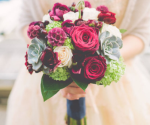 flowers, bridal, and rose image