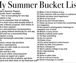 summer, bucket list, and summer bucketlist image