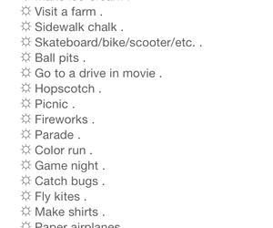 activity, bucket list, and ideas image
