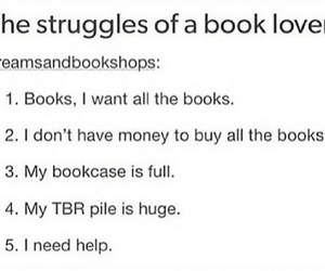 books, bookshelf, and happiness image