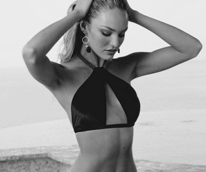 beach, Hot, and candice swanepoel image