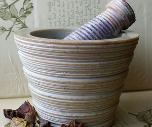 witchcraft, witchery, and mortar & pestle image