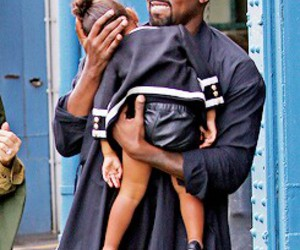 kanye west, north west, and streetstyle image