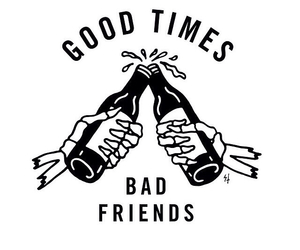 friends, bad, and good times image