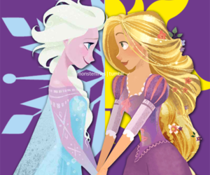rapunzel, elsa, and disney image