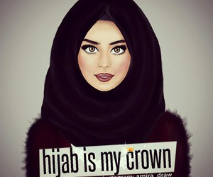 hijab, islam, and crown image
