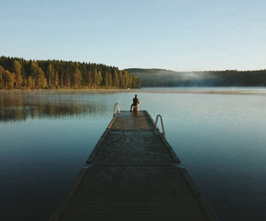 cool, hipster, and lake image