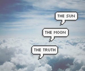 moon, truth, and sun image