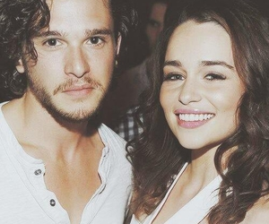 game of thrones, emilia clarke, and jon snow image