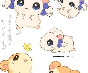 hamtaro, cute, and anime image