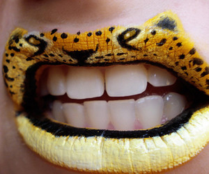 lips, tiger, and animal image