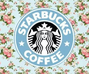 starbucks, flowers, and wallpaper image