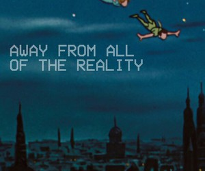 peter pan, reality, and quotes image